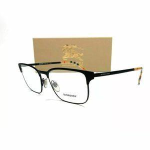 Burberry Men's Black Rubber Rectangle Eyeglasses!